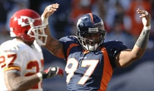 2006 AUG 27: The Denver Broncos defeated the Houston Texans 17-14 at Invesco Field in Denver, CO. Photo: Ryan McKee/Rich Clarkson and Associates, LLC.