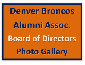 Denver Broncos Alumni Assoc_Board of Directors Photo Gallery